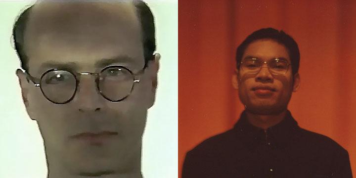 À gauche : Pedro Guimaraes ⓒ W. Schroeter, 1985. À droite : Huot Hoeurn ⓒ Arno Lafontaine, 2013.Ce rôle a été interprété par Pedro Guimaraes en 1985 puis par Huot Hoeurn en 2013.
