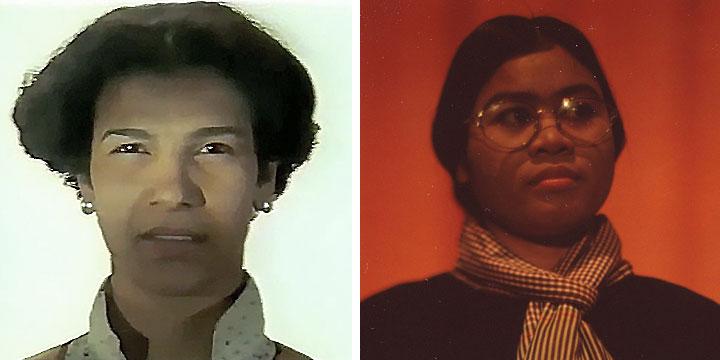 À gauche : Baya Belal ⓒ W. Schroeter, 1985. À droite : Huot Heang ⓒ Arno Lafontaine, 2013.Ce rôle a été interprété par Baya Belal en 1985 puis par Huot Heang en 2013.