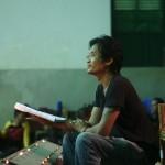 Rotha Moeng, interprète lors d' un atelier à Battambang ⓒ Arno Lafontaine, 2013.