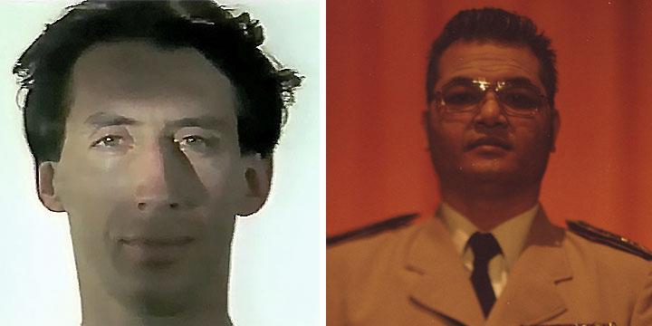 À gauche : Guy Freixe ⓒ W. Schroeter, 1985. À droite : Houn Bonthoeun ⓒ Arno Lafontaine, 2013.Ce rôle a été interprété par Guy Freixe en 1985 puis par Houn Bonthoeun en 2013.