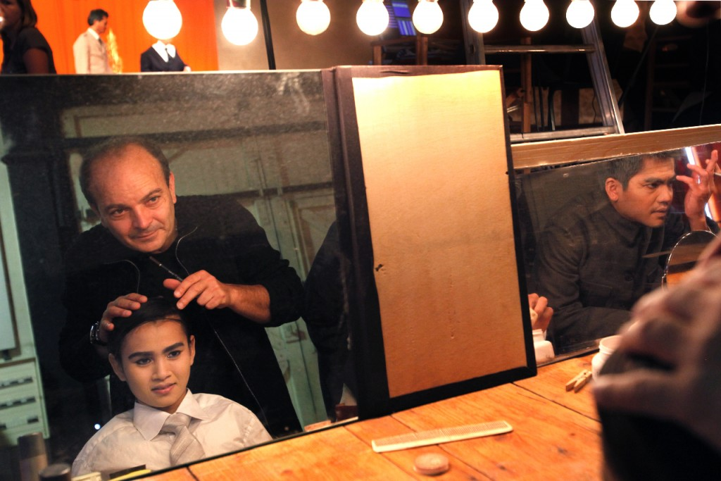 Georges Bigot, San Marady et Sim Sophal ⓒMichèle Laurent, 2011.
