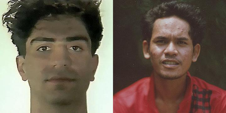 À gauche : Simon Abkarian ⓒ W. Schroeter, 1985. À droite : Kuon Annan ⓒ Arno Lafontaine, 2013.Ce rôle a été interprété par Simon Abkarian en 1985 puis par Kuon Annan en 2013.