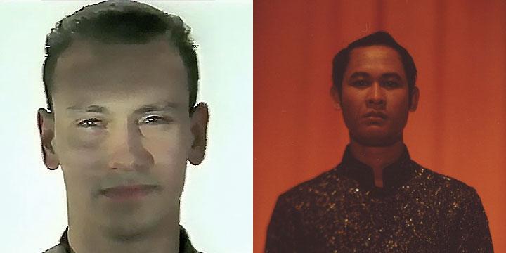 À gauche : Bernard Martin ⓒ W. Schroeter, 1985. À droite : Chhit Chanpireak ⓒ Arno Lafontaine, 2013.Ce rôle a été interprété par Bernard Martin en 1985 puis par Chhit Chanpireak en 2013.
