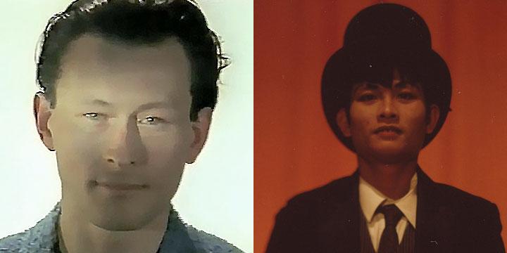 À gauche : Jean-François Dusigne ⓒ W. Schroeter, 1985. À droite : Khuonthan Chamroeun ⓒ Arno Lafontaine, 2013.Ce rôle a été interprété par Jean-François Dusigne en 1985 puis par Khuonthan Chamroeun en 2013.