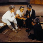 Ariane Mnouchkine, Odile Cointepas et Myriam Azencot, séance de travail, 1985. © Michèle Laurent