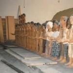 Les statues lors de leur conception à la Cartoucherie ⓒ Liliana Andreone, 1985.