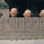 Les poupées lors du déchargement du décor à Amsterdam en 1986.ⓒ Liliana ANdreone.