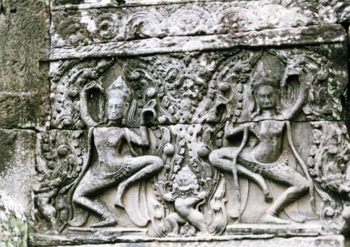 Fresque du Temple d'Angkor Vat ⓒ I. Van Poorten.