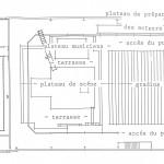 Plan pour les représentations à  Bruxelles, Guy-Claude François, 1986.