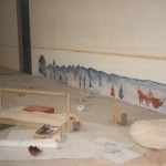 Travaux d'aménagement de la Cartoucherie pour les représentations de 1985. ⓒ LIliana Andreone.