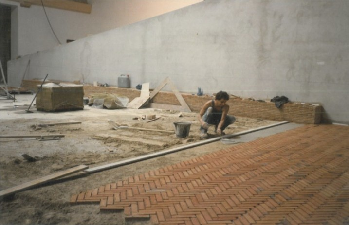travaux d'aménagement de la Cartoucherie, 1985.