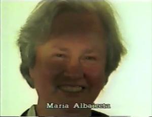 Maria Allbaiceta ⓒ W. Schroeter, 1985.